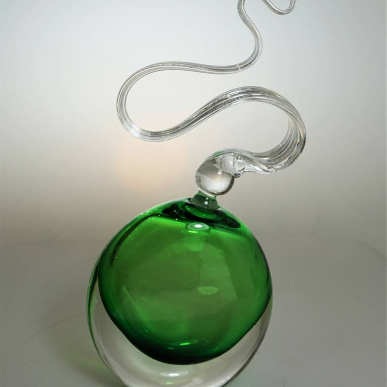 Bob Crooks - Moss Green Wave Scent Bottle