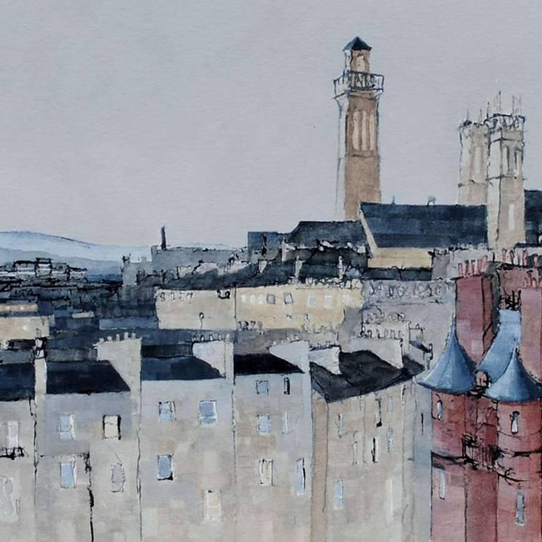 Glasgow Landscape, Four Towers