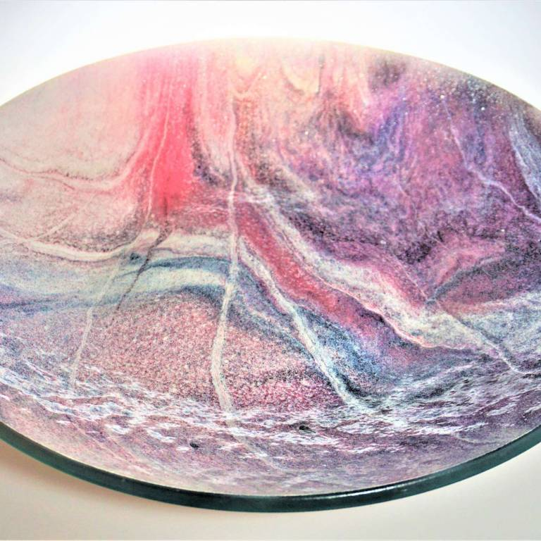 Gregg Anston-Race - Extra Large Bowl Pink White & Purple
