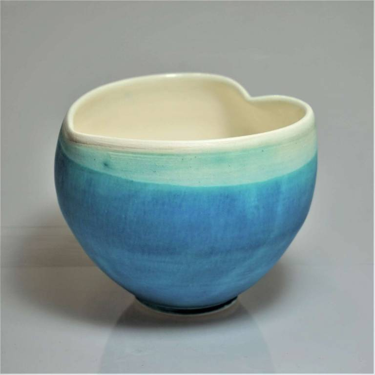 Anna Olson - Large Blue Heart Bowl