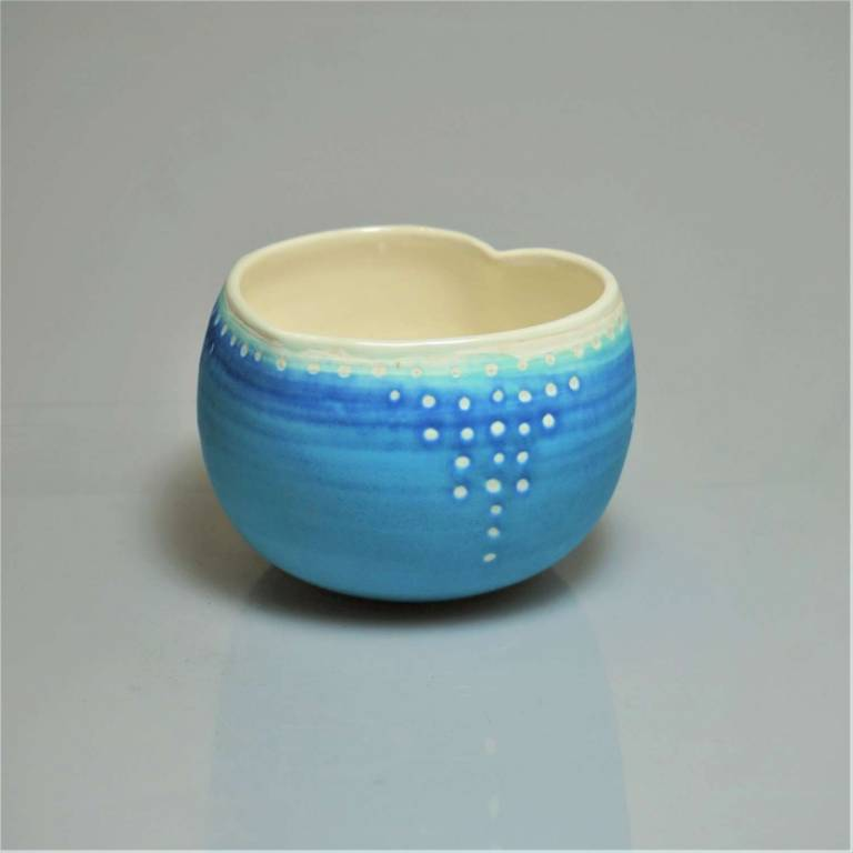 Anna Olson - Small Blue Heart Bowl