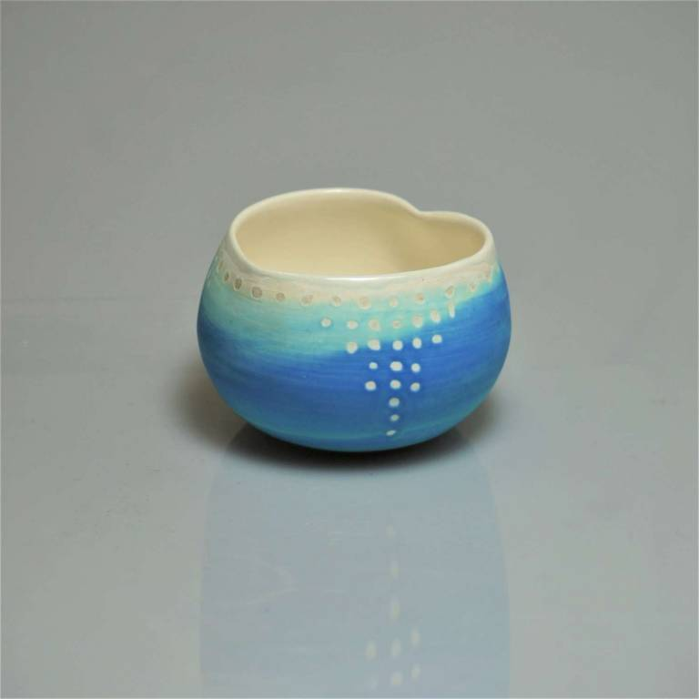 Anna Olson - Extra Small Blue Heart Bowl