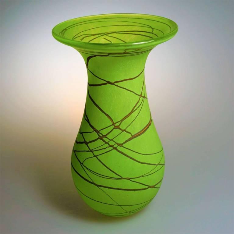 Shakspeare Glass - Random Flower Vase Medium Lime