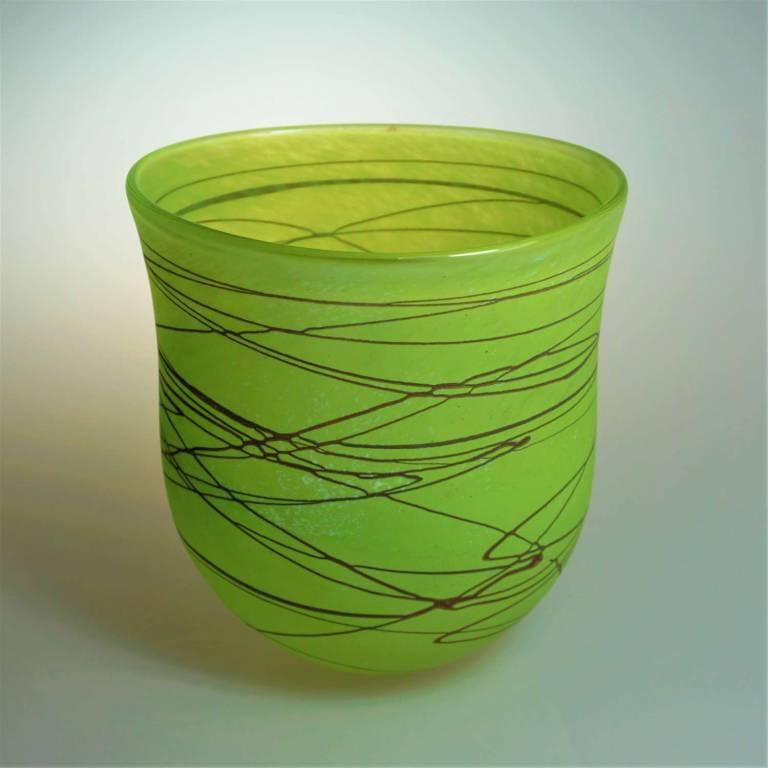 Shakspeare Glass - Random Open Vase Medium Lime