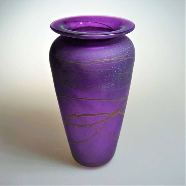Shakspeare Glass - Random Classic Vase Medium Purple