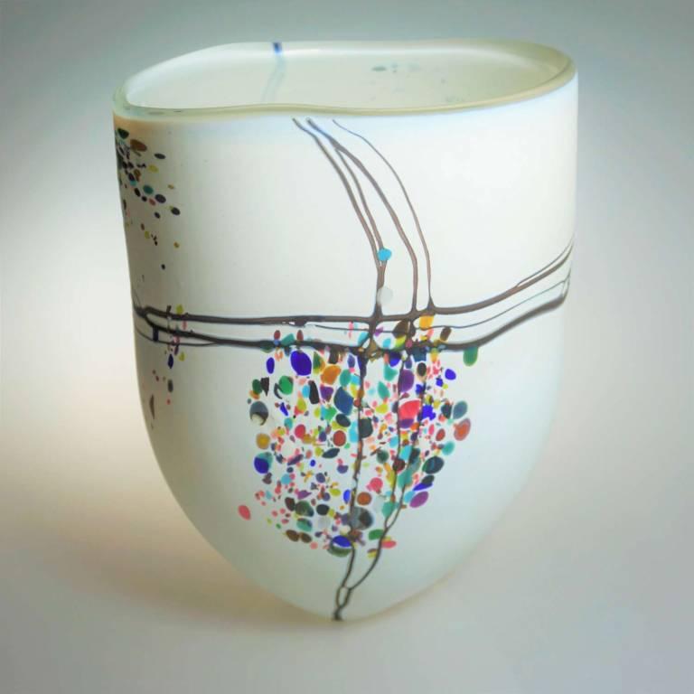 Shakspeare Glass - Large Pebble Open White