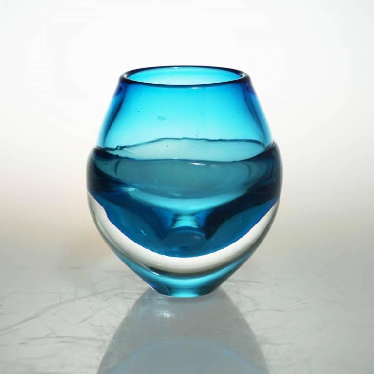 Liquid Ice Candle Holder Light Blue