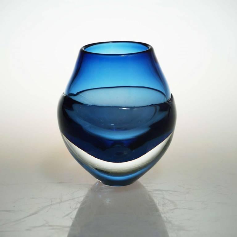 Liquid Ice Candle Holder Dark Blue