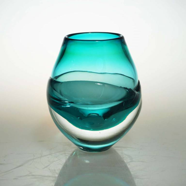 Liquid Ice Candle Holder Turquoise