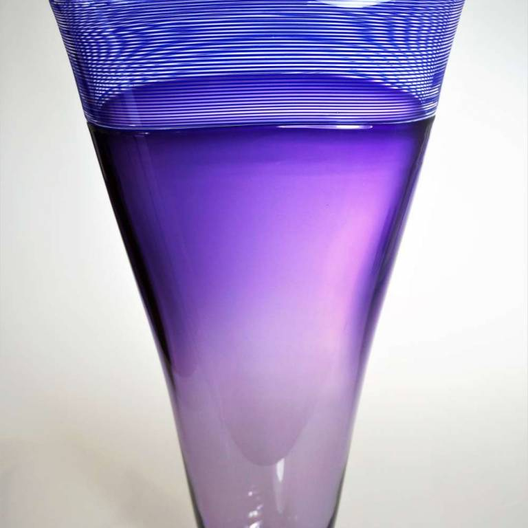 Bob Crooks - Large Oval Threaded Vase