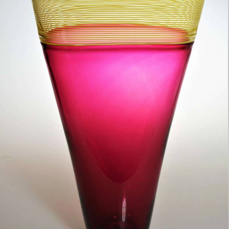 Small Oval Threaded Vase