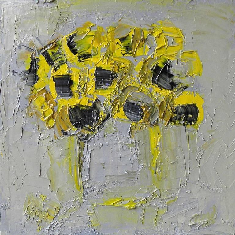 Alison McWhirter - Sunflowers Against Warm Umber