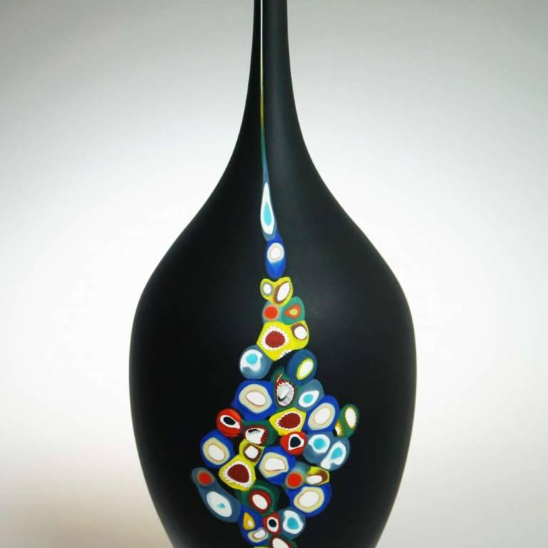 Richard Glass - Black Millie Vase