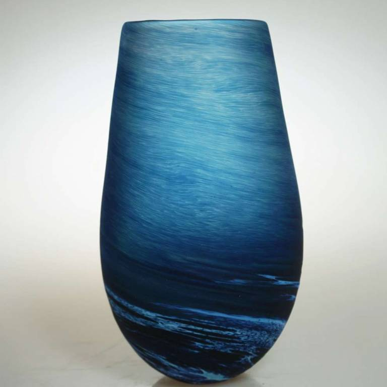 Richard Glass - Seaspray Tall Bud Vase