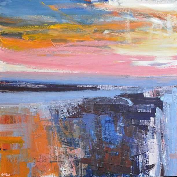 Mairi Clark - Sunset Fields East Neuk III