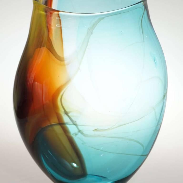 Copper Blue Horizon Vase