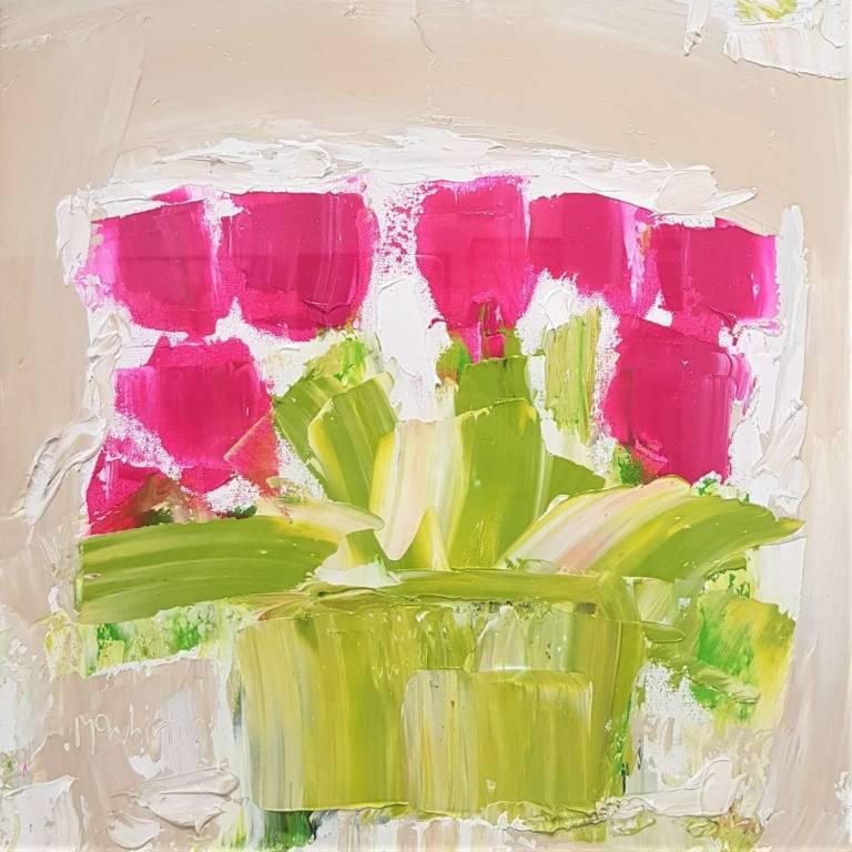 Alison McWhirter - Tulips Against Warm Umber
