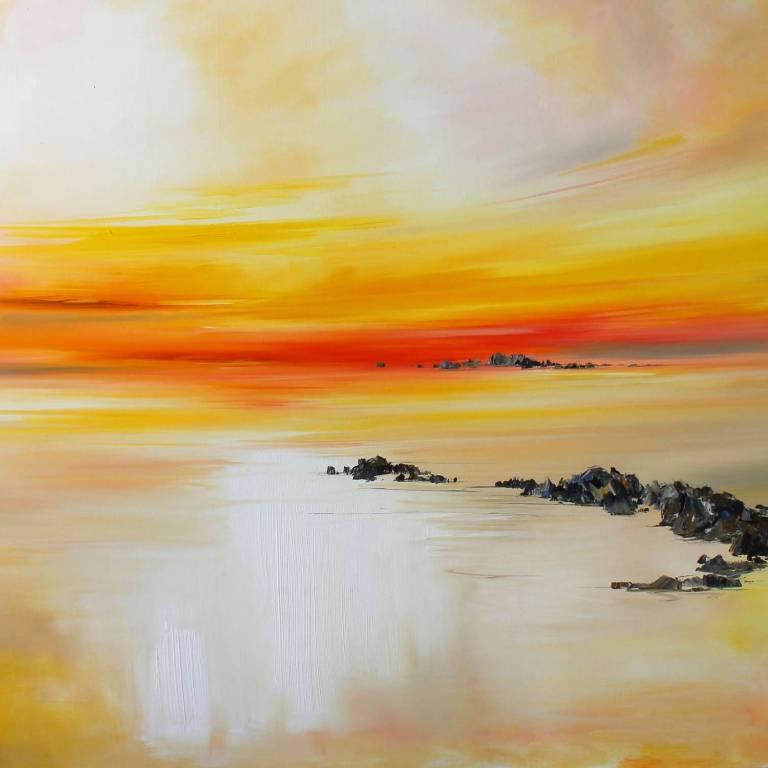 Rosanne Barr - Rocks Leading Out Toward The Sunset