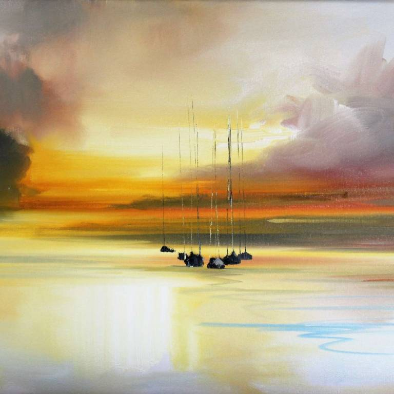 Rosanne Barr - Yachts In The Evening Light