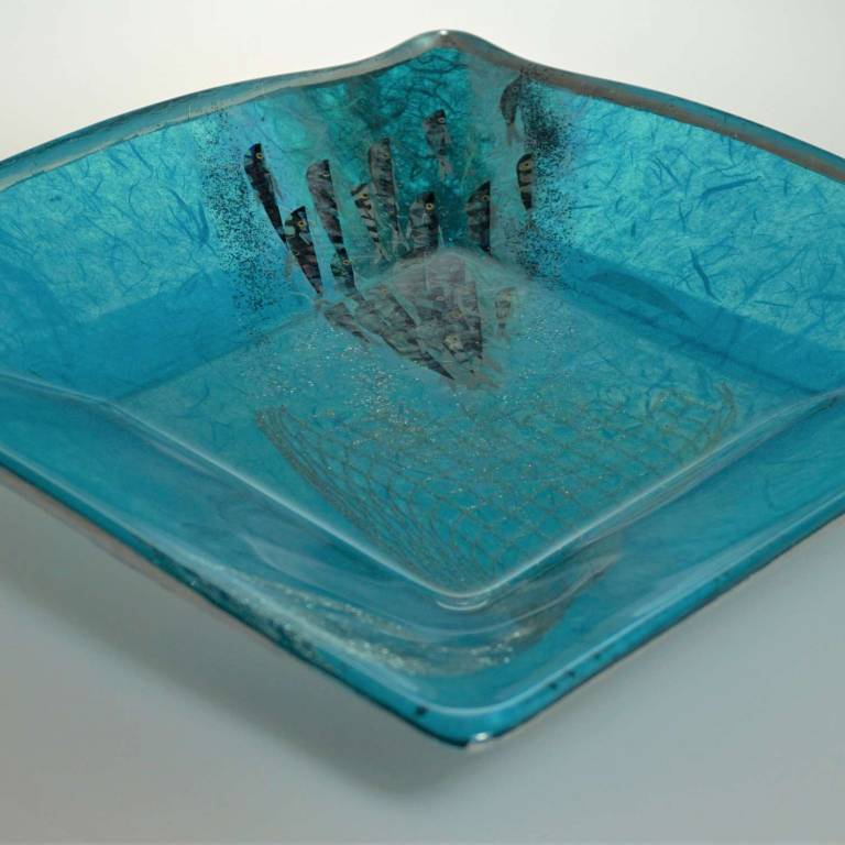Margaret  Johnson - Square Mackerel & Net Platter