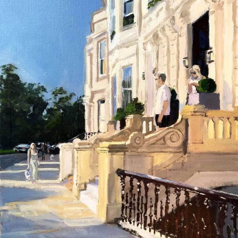 James Sommerville Lindsay - Sunshine On Park Terrace