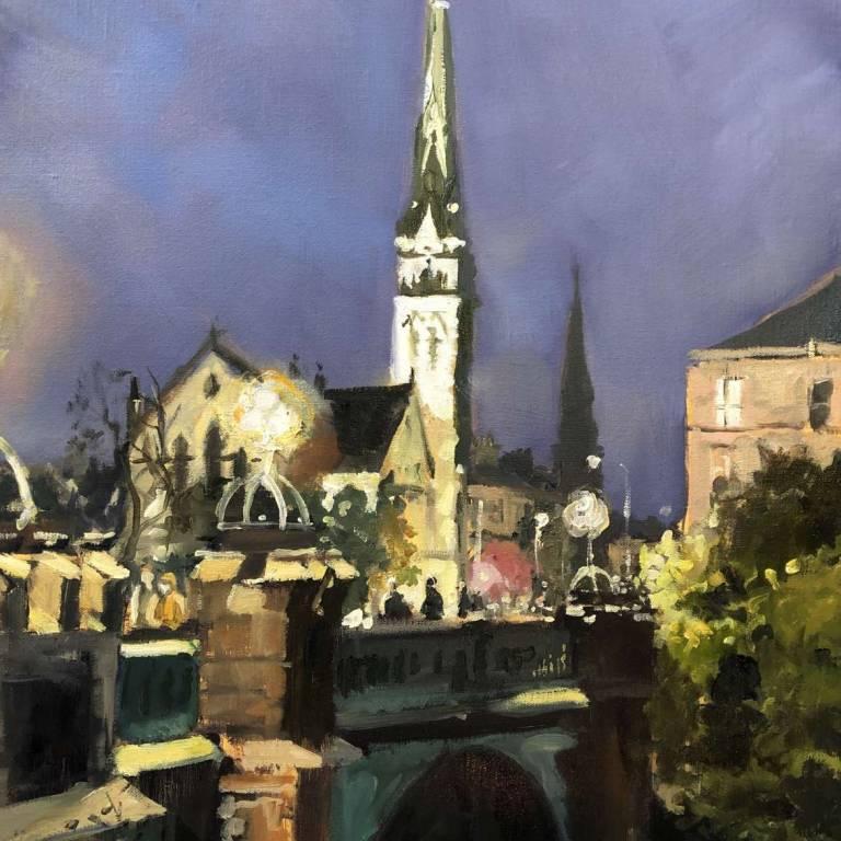 James Sommerville Lindsay - Evening On Kelvin Bridge