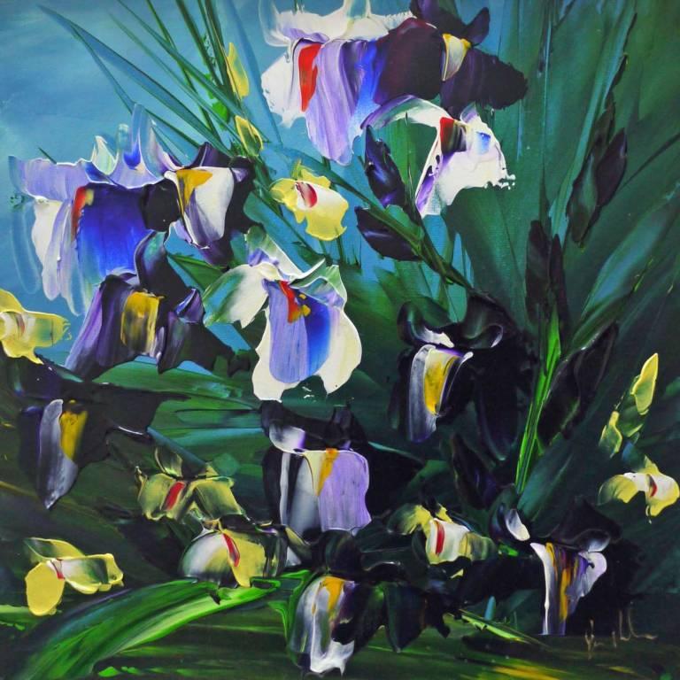 Jan  Nelson - Blue Sky and Iris