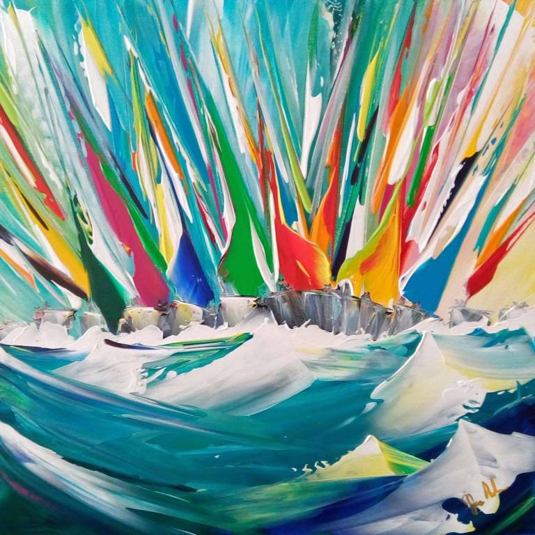 Jan  Nelson - A Blowy Afternoon Sail