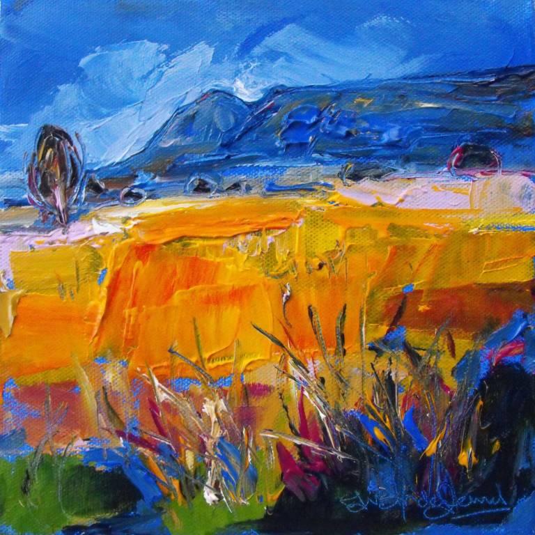 Judith Bridgland - Yellow Grasses, The Campsies