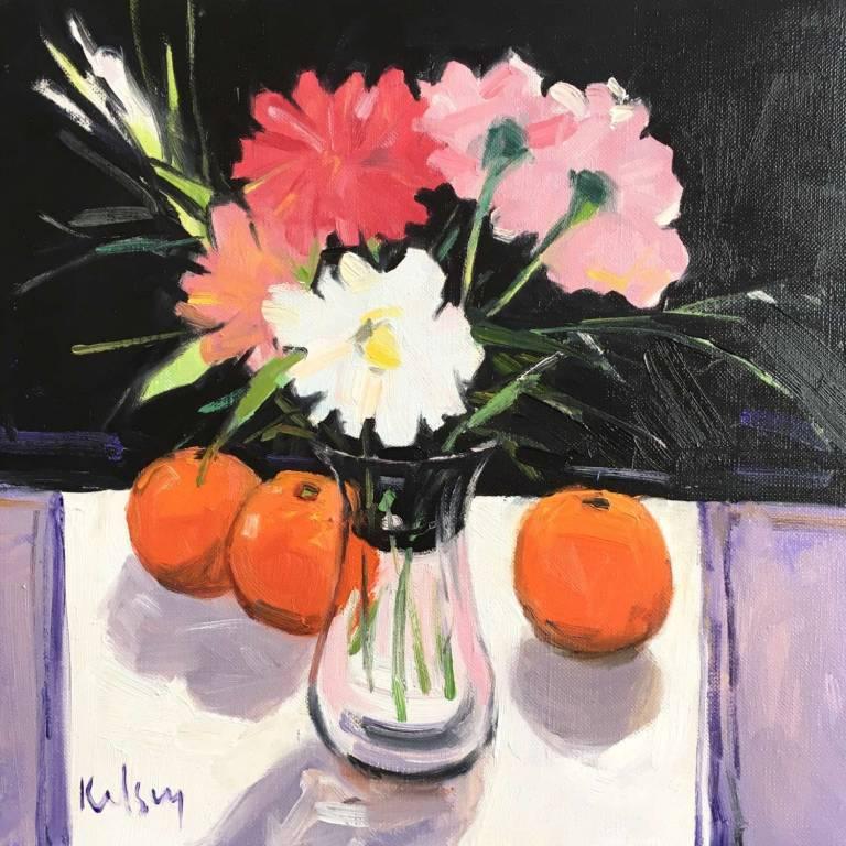 Robert Kelsey  DA, M Univ, PAI, FRSA - Flowers in a Glass Vase