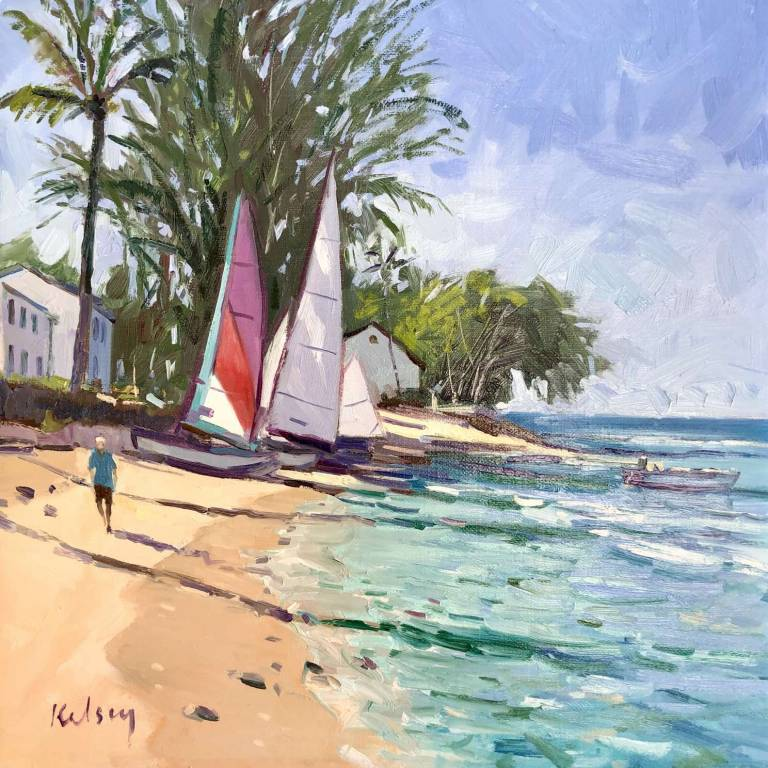 Robert Kelsey  DA, M Univ, PAI, FRSA - Small Boats at Crystal Cove, Barbados