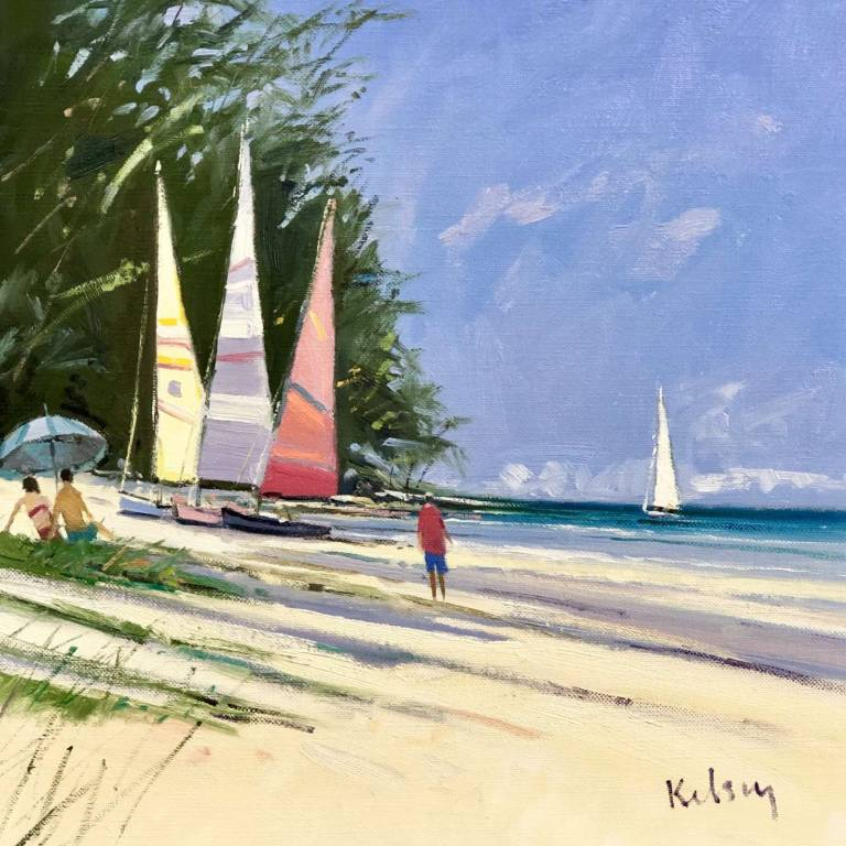 Robert Kelsey  DA, M Univ, PAI, FRSA - Colourful Sail Boats, Barbados