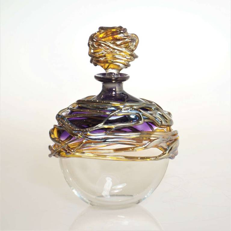 Allister  Malcolm - Golden Trailing Scent Bottle