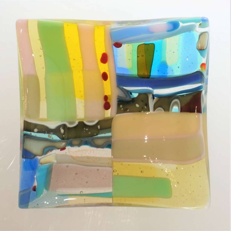 Kim Bramley - Pastel Rockpool Landscape Quarters Plate