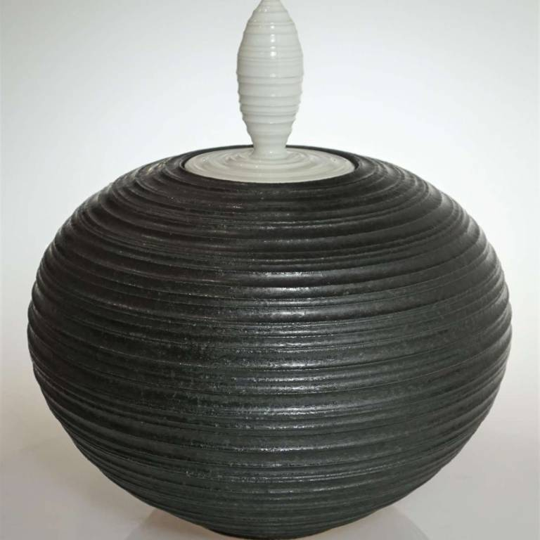 John Maguire - Large Black Jar With Lid