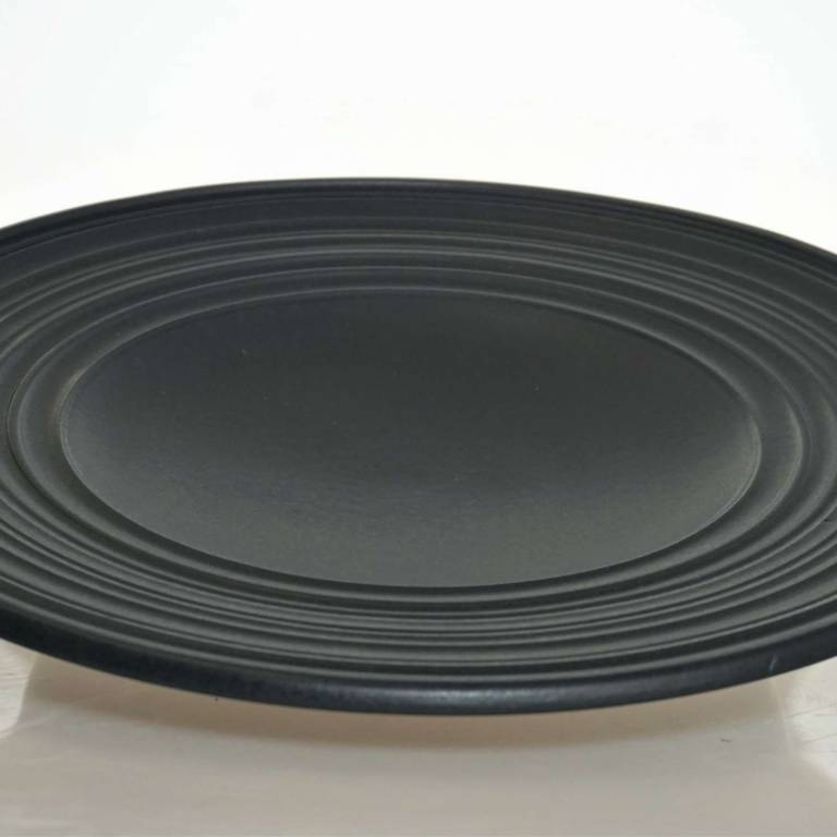 John Maguire - Black Plate With Ridged Rim