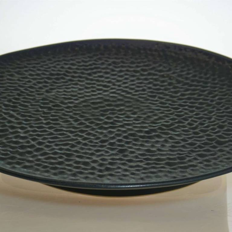 John Maguire - Black Textured Large Plate