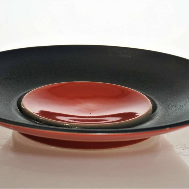 Black And Red Plate