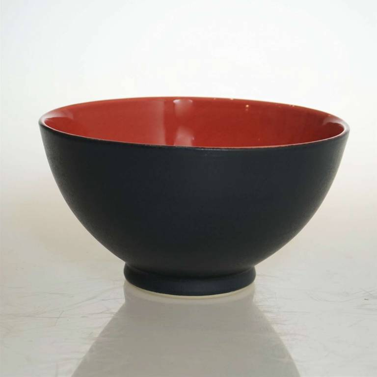 Bowl With Red Inside & Black Outside