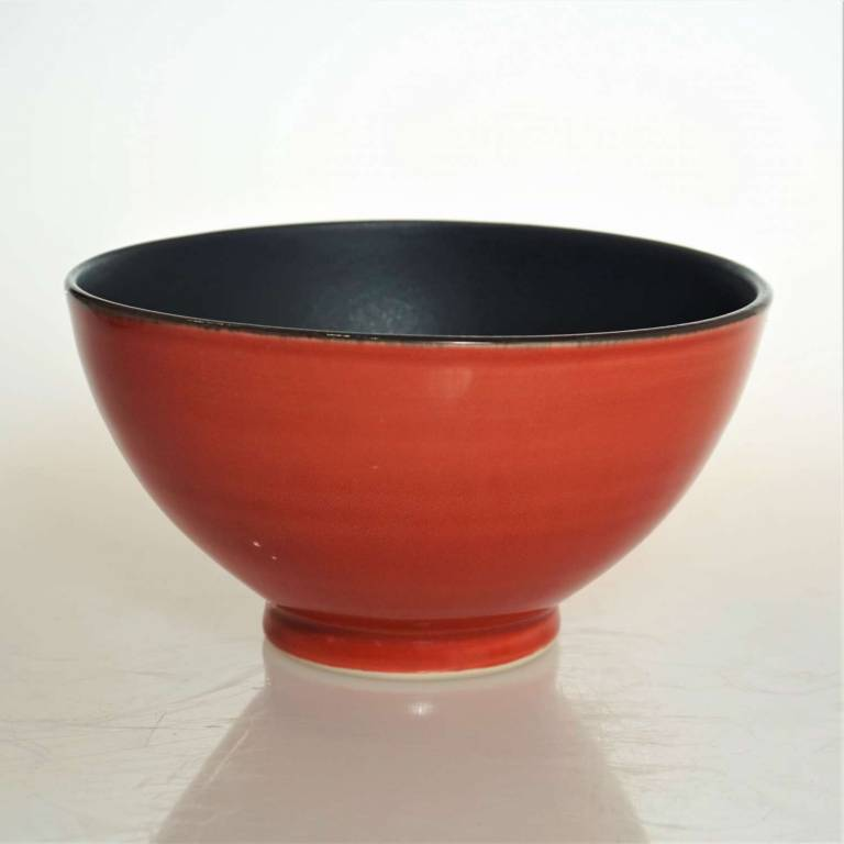 Bowl With Black Inside & Red Outside