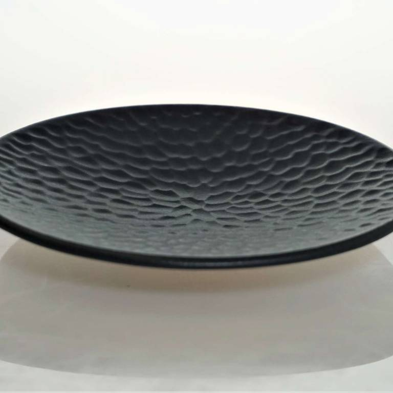 Small Black textured Plate