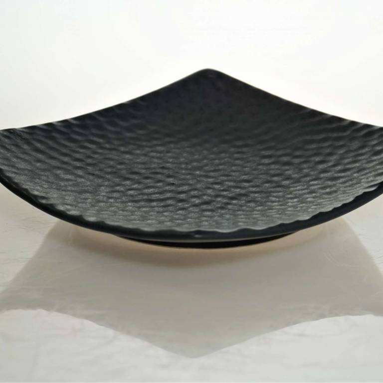 Black Squared Textured Plate