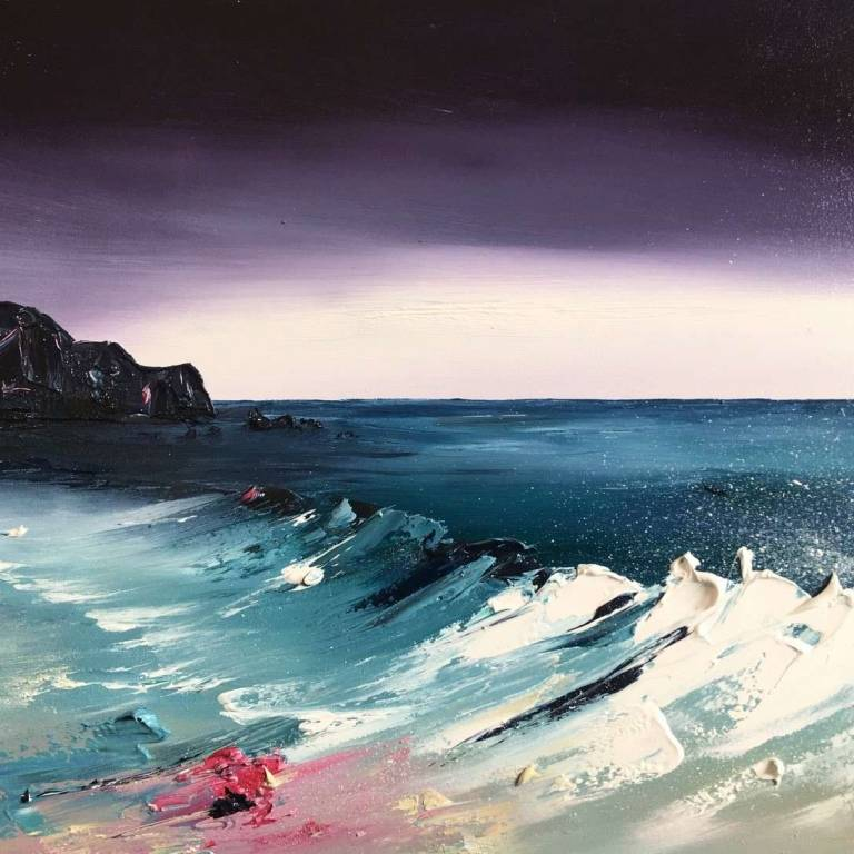 Linda Park - Waves on the Shore at Erradale, Wester Ross