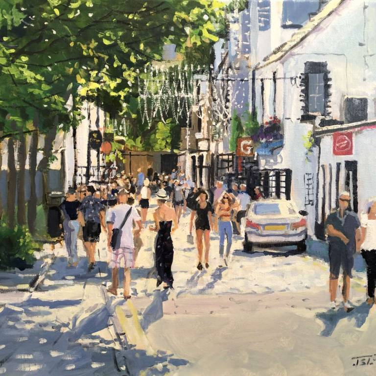 James Somerville Lindsay - Sunshine Crowds, Ashton Lane