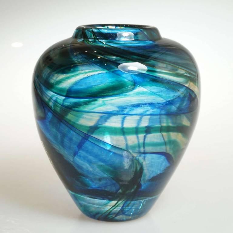 Andrew Sanders & David Wallace - Short Aqua Flume Vase