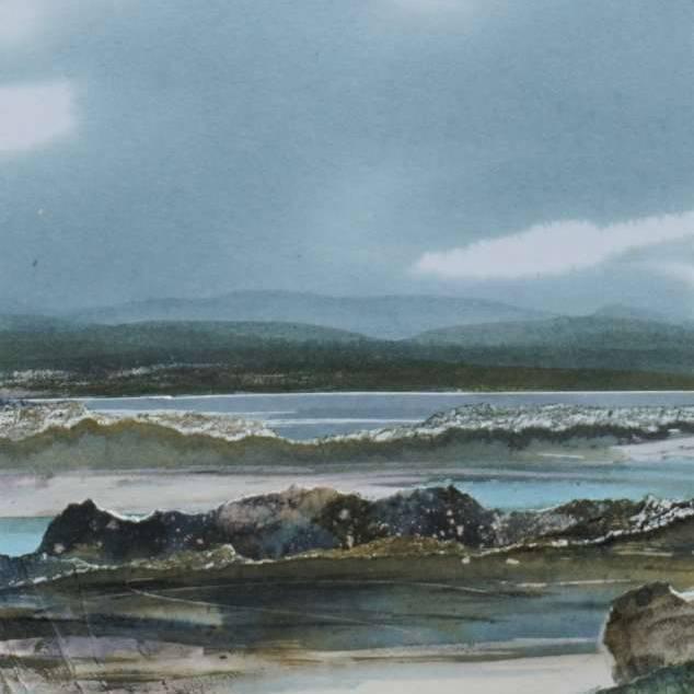Duncan  MacLeod RSW - Where Sea & Sky Entwine