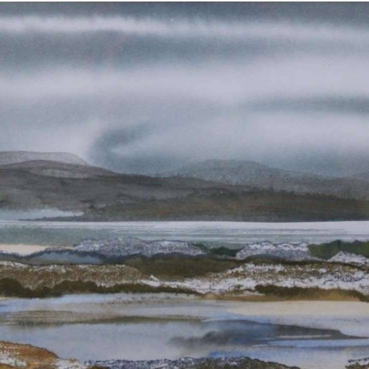 Duncan  MacLeod RSW - Cloud, Shore, Sand and Stone