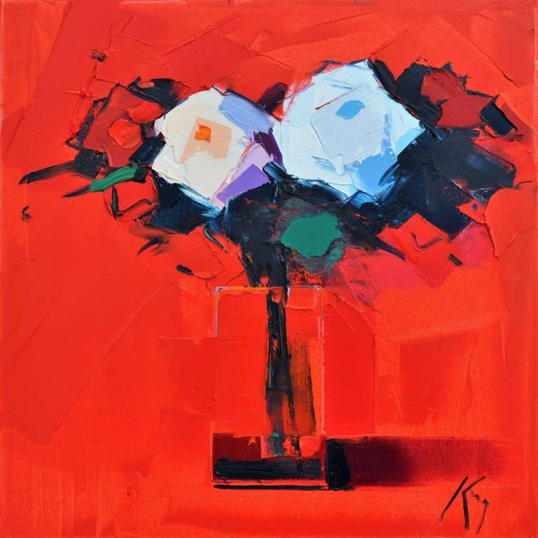 Peter King - White & Red Roses