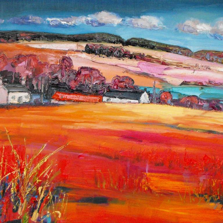 Judith I. Bridgland - Farm and Autumn Fields