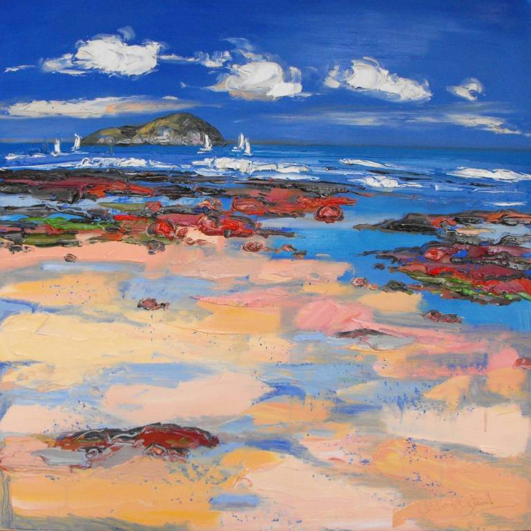 Judith I. Bridgland - Red Granite and Wet Sand, North Berwick